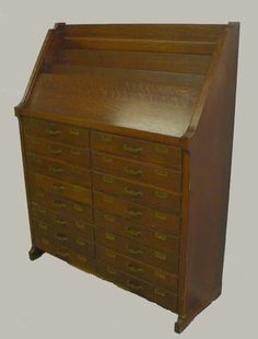 1931 American Cabinet Co Mahogany Dental Cabinet Antique