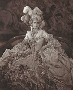 Marjorie Post Hutton costumed as Marie Antoinette for a dress ball, c. 1926.