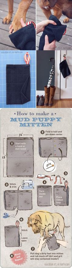 DIY Easy Mud Puppy Mittens 2