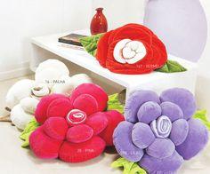 almofada personalizada 1 Almofadas Flor em Tecido Passo a Passo com Video e Fotos