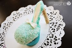 high heel cupcake - not sure if I could get them to a bake sale intact, though...