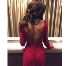 sexy open back dress