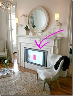 Faux fireplace/tv in the master bedroom???  tacky or inspirational????  I have not yet decided.