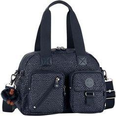 KIPLING Defea nylon shoulder bag (2,230 MXN) ❤ liked on Polyvore featuring bags, handbags, shoulder bags, kipling handbags, kipling shoulder bag, zip purse, zip shoulder bag and kipling purses