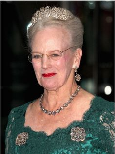 Queen Margrethe wearing the Baden Palmette Tiara