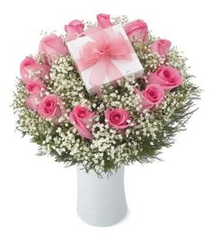 Pink roses with chocolates... #BloomersFlowerShop