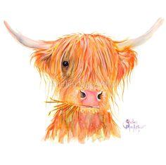 SCOTTISH HIGHLAND COW 'FERGUS' By Shirley MacArthur by Shirley MacArthur