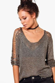 Imogen Ladder Detail Metallic Jumper - chainmail - 2019 Hijab Clothing Imogen Ladder Detail Metallic Jumper - chainmail History of Knitting Yarn rotating, weaving and stitching careers such a. Casual Winter Outfits, Stylish Outfits, Cute Outfits, Fashion Outfits, Work Outfits, Dressy Outfits, Fashion Clothes, Style Fashion, Pull Beige