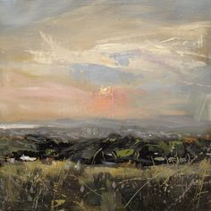 Landscape Painting Plein Air: 'Bear Road', oil on board by Hester Berry