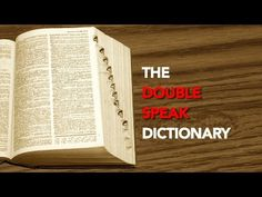 The Doublespeak Dictionary Political Psychology, Society Of Jesus, War Machine, Conspiracy, Meant To Be, Side Dishes, Flag, Language, Writing
