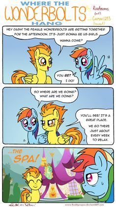 Where the Wonderbolts Hang by RedApropos.deviantart.com on @deviantART