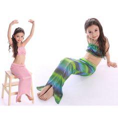 Girl Mermaid Tail Ariel Princess Costume Halloween Costumes for Kids Swimwear Cosplay Size S M L XL XXL XXXL