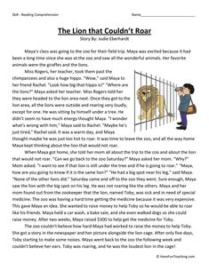 Stories With Moral Lessons, English Moral Stories, English Stories For Kids, Short Stories For Kids, English Story, Kids Stories, Reading Comprehension Worksheets, Reading Fluency, Reading Passages