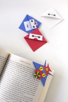 How to Make Corner Bookmarks with Big Hero Six Characters // localadventurer.com
