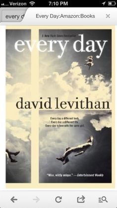 Every Day by David Levitan.  Young adult book with a very interesting premise