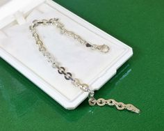 Vintage Armschmuck - Armband Gliederarmband Silber 925 elegant SA140 - ein Designerstück von Atelier-Regina bei DaWanda