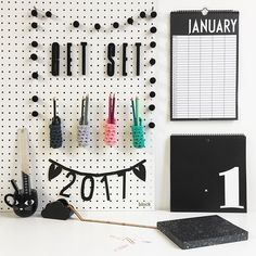 Get set for 2017 and get organised for the new year with our #DesignLetters monthly planner and #ALittleLovelyCo #PerpetualCalendar Pegboards are a fab way to store and arrange all your bits and pieces elegantly We have these *NEW* handmade crochet pots form @FickleCraftroom that are perfect for holding pens/pencils etc and come in a rainbow range of colours. All available online now. . . #ThisModernLife #Organise #Diary #MonthlyPlanner #Planner #Journal #2017 #NewYear #Calendar #Pegboard…