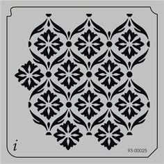 93-00025 - All Over Repeats Stencils - Wallpaper Stencils - Stencil Pattern