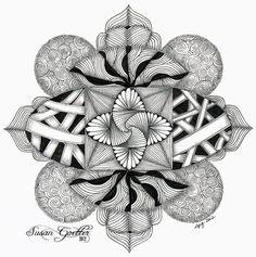 Susan Goetter: Zentangle Inspired Art, Zendala Dare #29