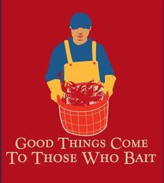 good things come to those who bait: lobster wisdom #JoesCrabShack