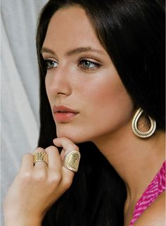 Anna Beck Jewelry, Gili Saddle Ring, Gili Drop Earrings, Lombok Band Ring