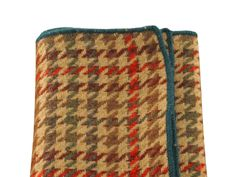 Brown Houndstooth Wool Handkerchief