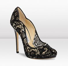 Jimmy Choo: Black Lace Shoes