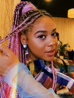 Black Girl Braids, Braids For Black Hair, Girls Braids, African Braids Hairstyles, Braided Hairstyles, Hair Inspo, Hair Inspiration, College Hairstyles, Traditional Hairstyle