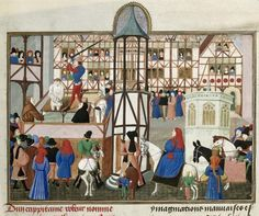 century scene of an execution – British Library MS Harley 4379 f. Limousin, Library Website, Medieval Paintings, Library Catalog, Book Of Hours, Harley, Historical Art, British Library, Renaissance Art