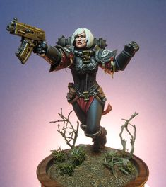 Adepta Sororitas - Sisters of Battle - Exhibition of miniatures painted by other artists around the world