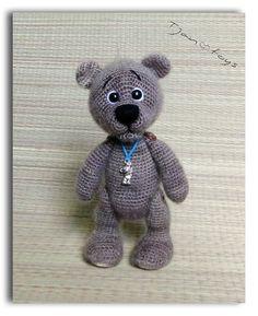 Small Bear OOAK Stuffed Animals Crochet Handmade Soft toy от Tjan, $49.00