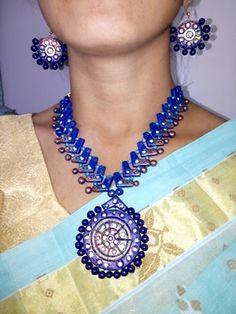Radiance - 3 Piece #Terracotta Designer #EcoFriendly #Jewelery - Online Shopping For #JewellerySets  #craftshopsindia #craftshopindia