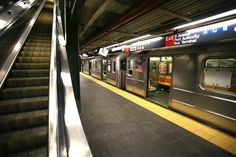 New York subway, Times Square station - Stock Photo , New York One, New York City, Times Square, New York Subway, Public Transport, Stairways, Transportation, Images, Stock Photos
