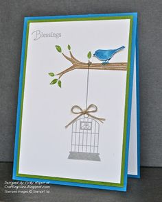 Take Care little bird! Paper--Pacific Point and Gumball Green