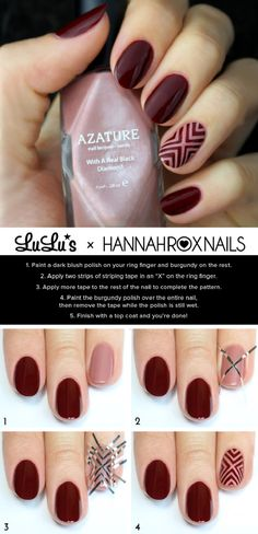 Need some wine nails inspiration? We have new wine colored and wine themed nail designs. Perfect Nails, Gorgeous Nails, Pretty Nails, Prom Nails, My Nails, Wine Nails, Blush Nails, Nailed It, Nail Polish