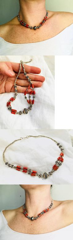 Necklaces and Pendants 98481: Berber Coral And Silver Necklace. Tiznit, Morroco -> BUY IT NOW ONLY: $97 on eBay!