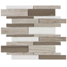Elida Ceramica Savy Natural Linear Mosaic Natural Stone Marble Wall Tile (Common: 12-in x 12-in; Actual: 12-in x 12-in)