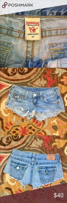 True Religion Joey Cut Offs The greatest cut offs anyone can own. The original True Religion Joey Cut-Offs! Short, sexy and flattering! Only worn a few times in college 😜 True Religion Shorts Jean Shorts