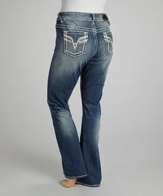 Take a look at this Medium Wash Chelsea Bootcut Jeans – Plus by Vigoss on #zulily today! sz 16