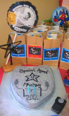 Special agent/cop party-treat bags-personalized balloon-creative-cake-boys-fun