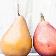 Pear photograph - Country farm house kitchen art - still life in harvest gold yellow russet red - autumn bounty - fall baking 5x5. $15.00, via Etsy.