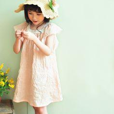 Alice Crochet Dress - Peach, Sky Blue