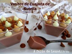 Vasitos de cuajada de nutella (con y sin thermomix) Mousse, Dessert Shots, Chocolate Art, Flan, Cooking Time, I Foods, Love Food, Sweet Recipes, Sweet Treats