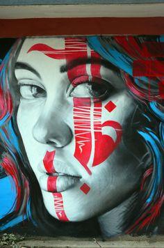 Street art by H11235 in Kathmandu, Nepal