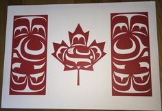 The Canadian Native Flag was designed by Kwakwaka'wakw artist Curtis Wilson. His design for the flag is meant to represent First Nations in Canada to the publi National Aboriginal Day, Aboriginal Art, Aboriginal Education, Indigenous Education, Aboriginal People, National Flag, Native Canadian, Native American Art, Canadian Flags