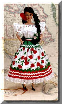 2a51121c99 MEXICO – Dolls and Clothes by Mattel ~~~ Mexican Barbie Dolls of the World  Collection