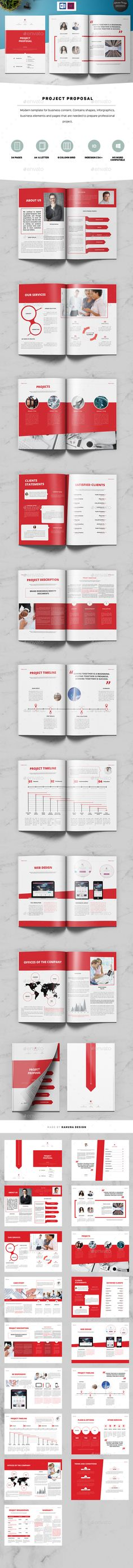 Project Proposal Template Design Stationery, Template and - project proposal