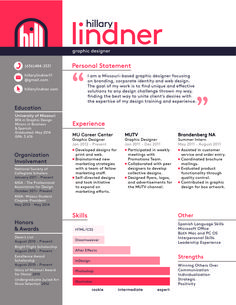 Graphic Design Resume Graphic Design Resume  Google Search  Resume  Pinterest