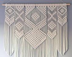 macrame/macrame anleitung+macrame diy/macrame wall hanging/macrame plant hanger/macrame knots+macrame schlüsselanhänger+macrame blumenampel+TWOME I Macrame & Natural Dyer Maker & Educator/MangoAndMore macrame studio Bohemian Wall Art, Bohemian Tapestry, Large Macrame Wall Hanging, Tapestry Wall Hanging, Wall Hangings, Boho Bedroom Decor, Boho Decor, Nursery Decor, Macrame Plant