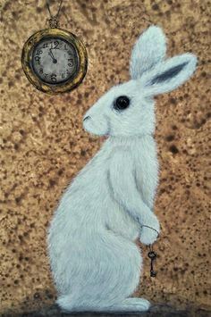 The White Rabbit by Deborah Sheehy (from Slowing down the Days & Illustrating Old Tales)